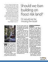 Should we ban building on flood plains?