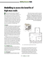 Modelling to Assess the benefits of High-Mass Walls
